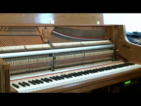 Testing player piano live streaming