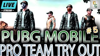 Pro Team Try Out PUBG Mobile Live Stream | Team Exyst (Lightspeed / English) #5