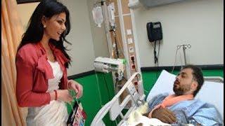 شاهد ماذا فعلت دنيا بطمة للفنانة هيفاء وهبي بعد زيارة زوجها بالمستشفى