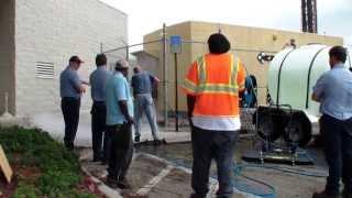 3000 PSI @ 10.2 GPM Alkota hot water pressure washer trailer, training City of Boca Raton FL.