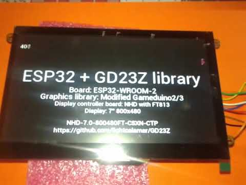 MCU ESP32 With library GD23Z NHD-7 0-800480FT-CSXN-CTP