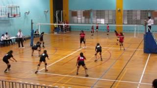 2017 B Div Girls NZ XMS vs SEM 2-0 1st set