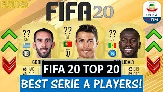 FIFA 20 | TOP 20 BEST SERIE A PLAYER RATINGS!! FT. RONALDO, GODIN, KOULIBALY ETC..(FIFA 20 UPGRADES)