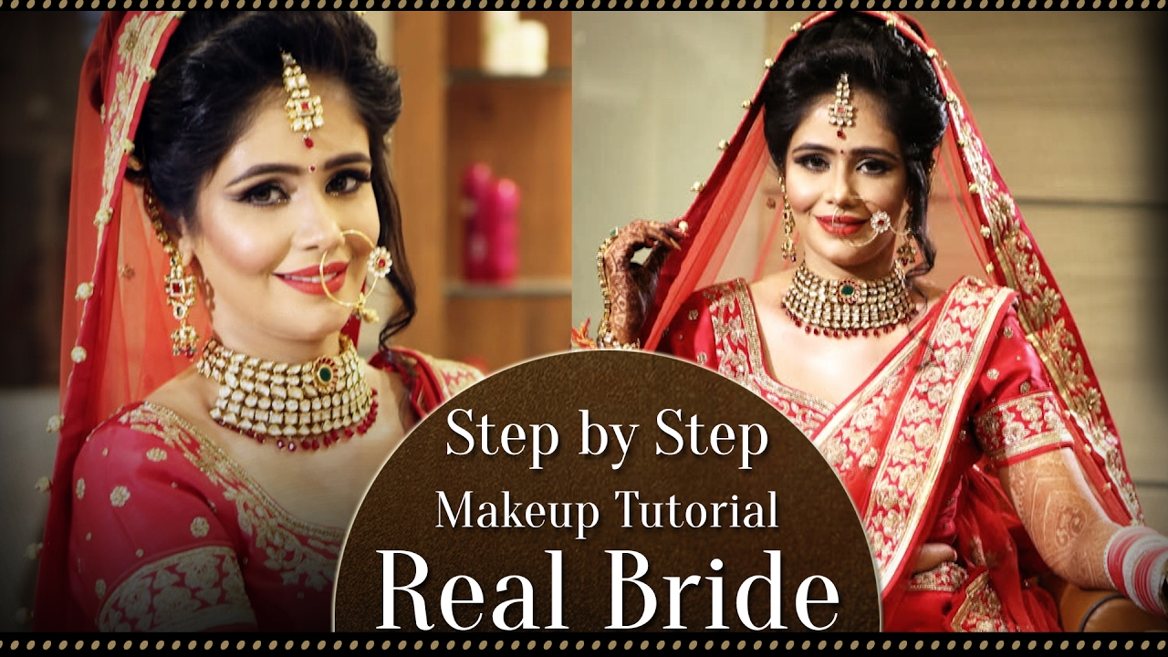 real bride make up | step by step indian asian bridal makeup tutorial | bollywood style makeup
