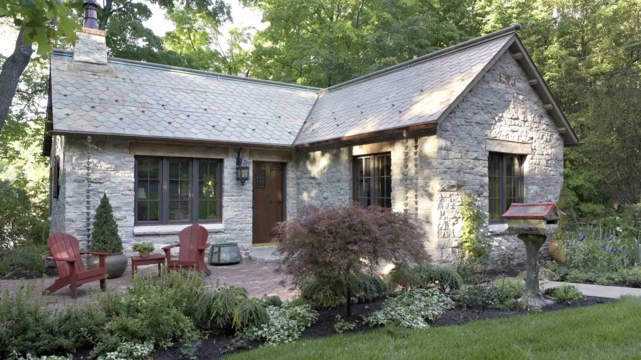 Old 1900's Log Gatehouse Reinvented As An English-style