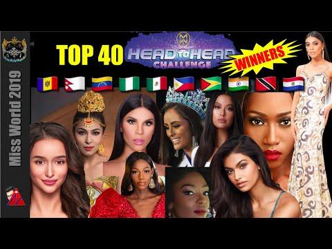 10 Head To Head Challenge Winners: Top 40 Miss World 2019