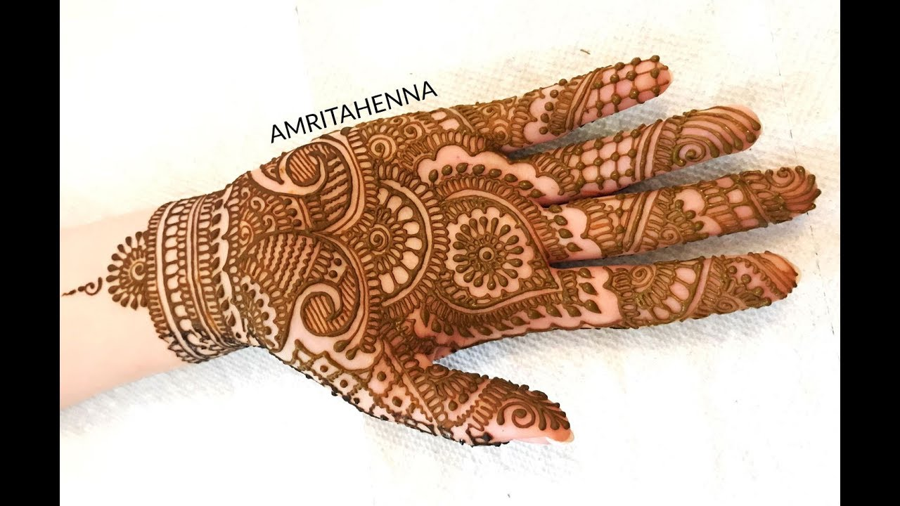 Traditional Henna Designs: EASY FULL HAND MEHENDI TRADITIONAL DESIGN