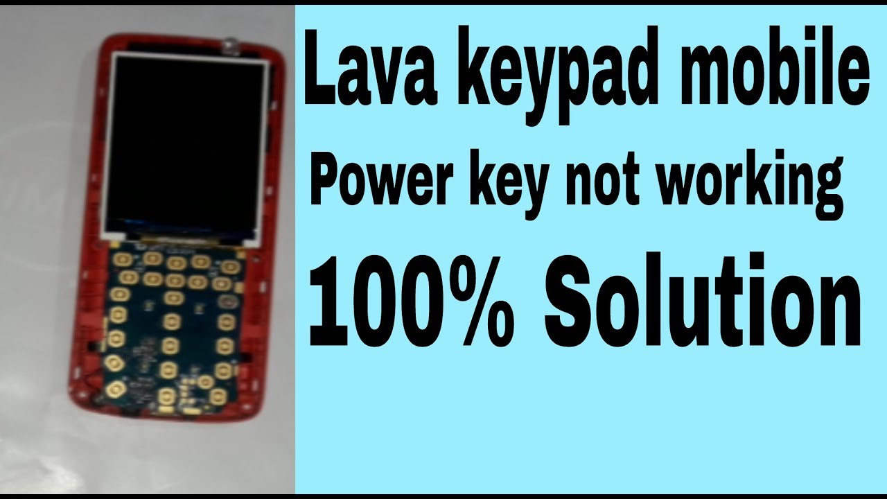 Lava Keypad mobile power key not working solution (All keypad mobile  solution)