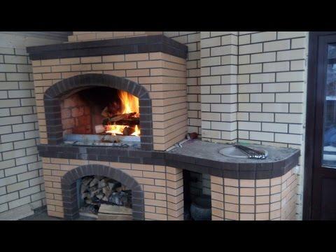 Мангал, печка из кирпича своими руками \ Barbecue, brick oven with own hands.
