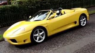 Ferrari 360 Spider F1 Yellow Youtube