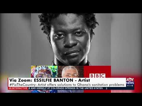 #FixTheCountry: Artist offers solutions to Ghana's sanitation problems - JoyNews (10-5-21)