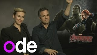 Avengers: Scarlett Johansson and Mark Ruffalo talk on-set antics and teaming up with Justice League