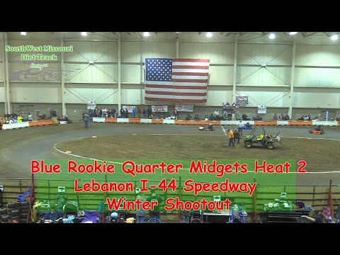 Blue Rookie Quarter Midgets Heat 1   I 44 Speedway Winter Shootout 1 20 2018 1