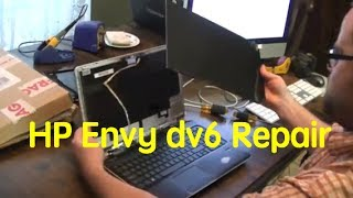 how to replace screen on an hp envy dv6 laptop