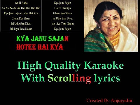 Kya Jaanu Sajan || Baharon Ke Sapne ||  karaoke with scrolling lyrics (Original High Quality)