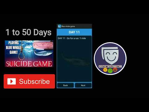 Blue Whale Game or Challenge  1 to 50 Days  50 Tasks List.