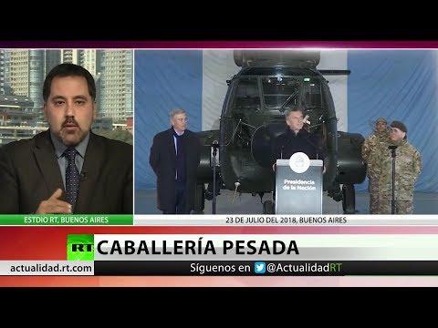 RT en Español: Mauricio Macri inaugura una base militar al norte de Argentina