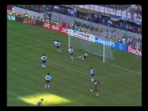 Cameroon beat Argentina 1990 World Cup