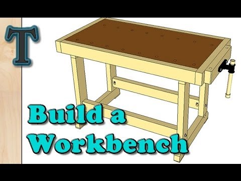 Build a Cheap Woodworking Workbench - YouTube