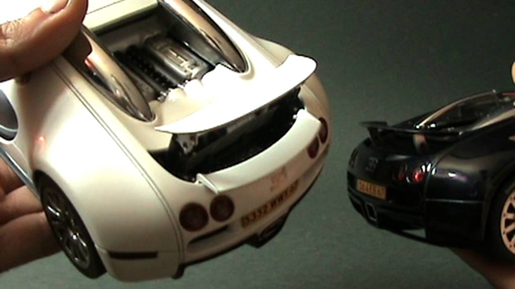 1:18 autoart bugatti veyron concept and production versions - youtube