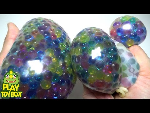 Learning Colors Stress Ball Balloon POP Squishy Stretchy Orbeez DIY Poli Pokemon PlayDoh