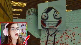 O JEFF THE KILLER DE VERDADE APARECEU no MINECRAFT!!! | ANIMAÇÃO ESCOLA DE MONSTROS (VÍDEO REAGINDO)