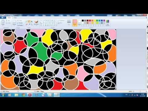 สร้างภาพพื้นหลังด้วยโปรแกรม paint แบบที่ 1