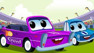 Sport Car Rhymes   Car Racing For Kids   Racing Car Song