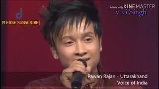 """""""उषा उथुप जी के विशेष आग्रह करने पर पवनदीप ने अपना पहाड़ी गीत गाकर सबका दिल जीत लिया।"""""""