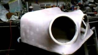 Custom fiberglass subwoofer enclosure for 3 kicker cvr 12's