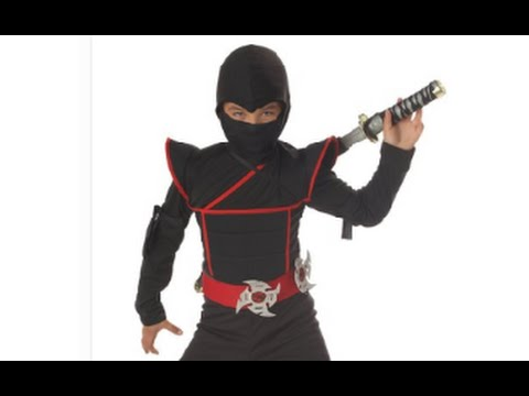 sc 1 st  YouTube & California Costumes Toys Stealth Ninja Costume Review - YouTube