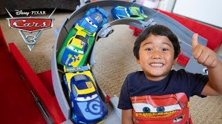 Disney Cars 3 2018 Next Gen Racers Diecast DAN CARCIA CHRIS ROAMIN FILLUPS BRAKER Toy Review