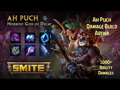 SMITE - AH PUCH   3VS5   ARENA DAMAGE BUILD - SMITE
