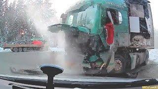 Drastyczne wypadki Tirów na zywo, wypadki cieżarówek 2017