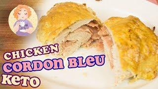 Keto Chicken Cordon Bleu Recipe   Low Carb Gluten Free No Pork Rinds In The Oven