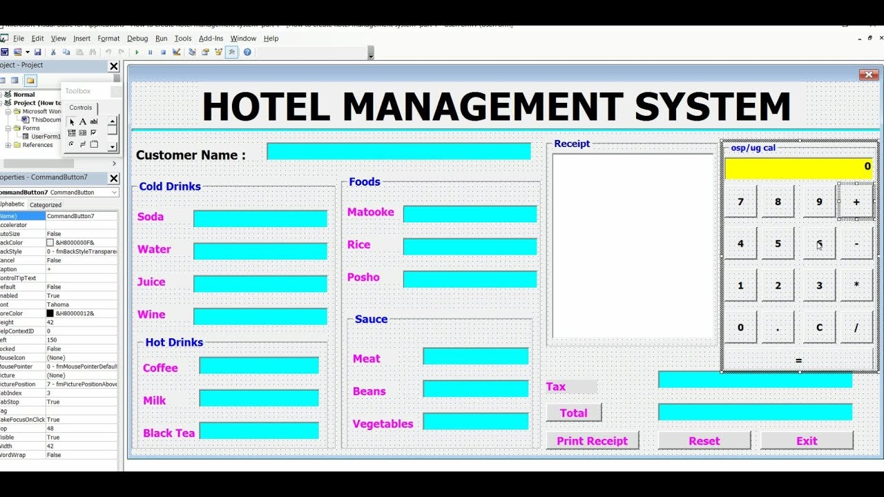 How To Create Hotel Management System Complete Video In Vb Excel Ms Word Powerpoint