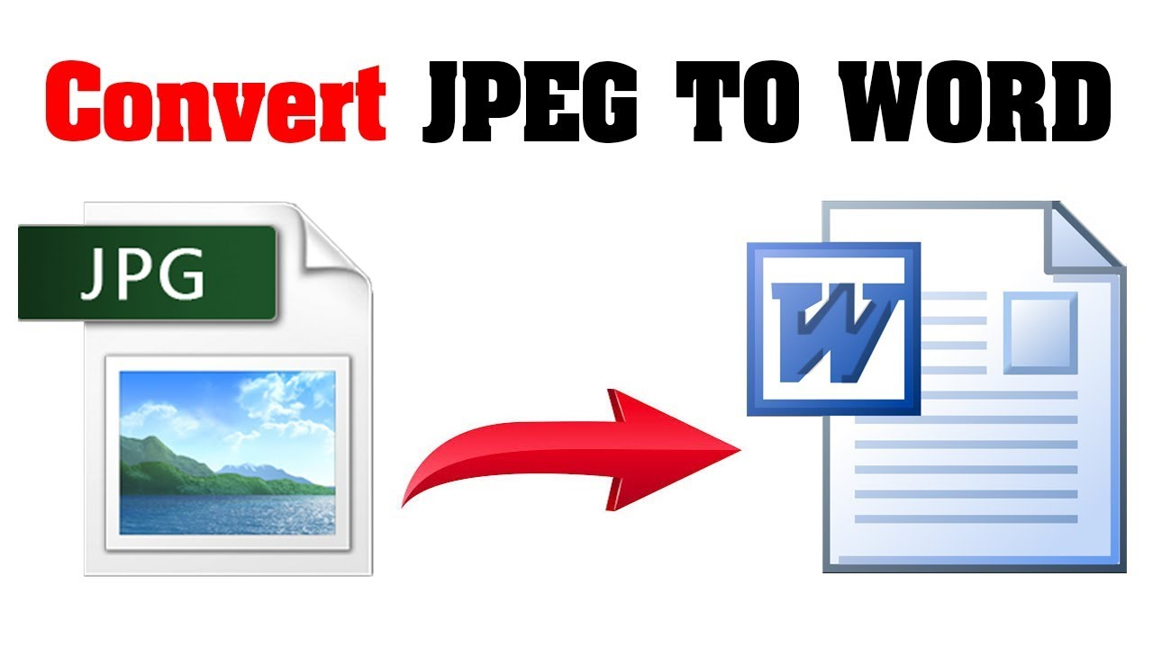How to Convert JPEG to Word Online Scanned File - YouTube
