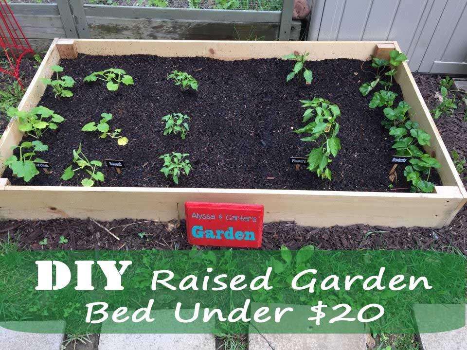 Diy Raised Garden Bed Under 20 81 Youtube