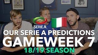 Serie A Tips - Gameweek 7 - 2018/2019