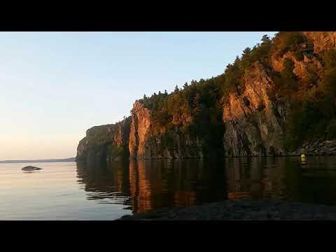 Timelapse of sun setting over the Mazanaw Rocks