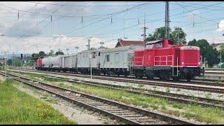 Unkraut-Spritzzug Mit Zwei BR 212 In Holzkirchen......