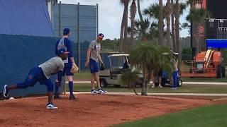 Mets' Jacob deGrom, Matt Harvey throw bullpens