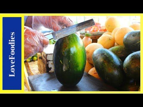 FRUIT NINJA of Mini Watermelon   Amazing Fruits Cutting Skills   Indian Street Food In 2018