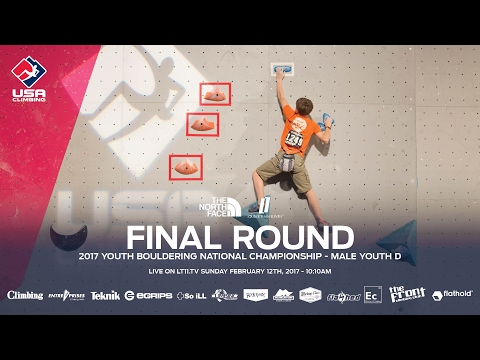 Male Youth D • Finals • 2017 Youth Bouldering Nationals • 2/12/17 10:10 AM