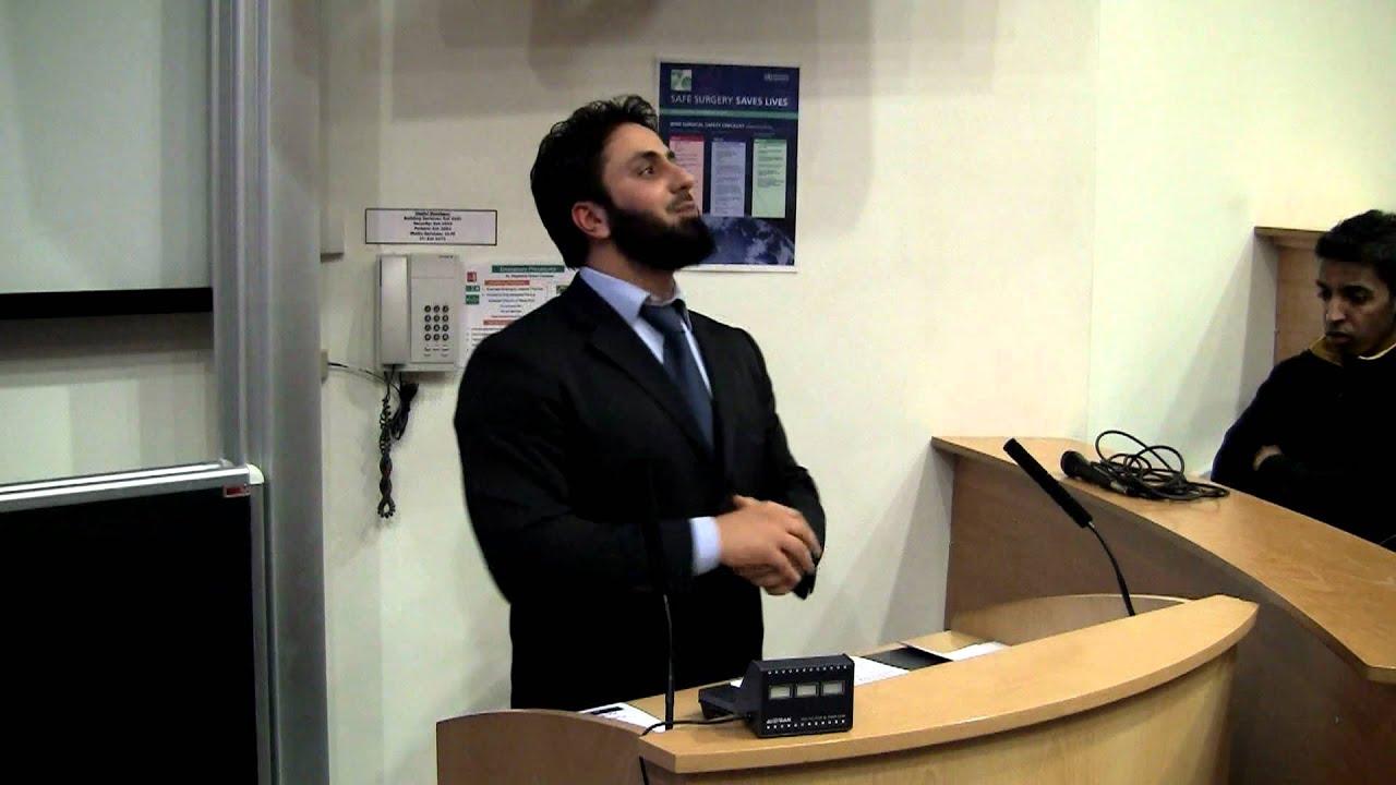 Hamza tzortzis vs atheist dating