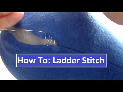 How To: Ladder Stitch (Invisible Stitching)