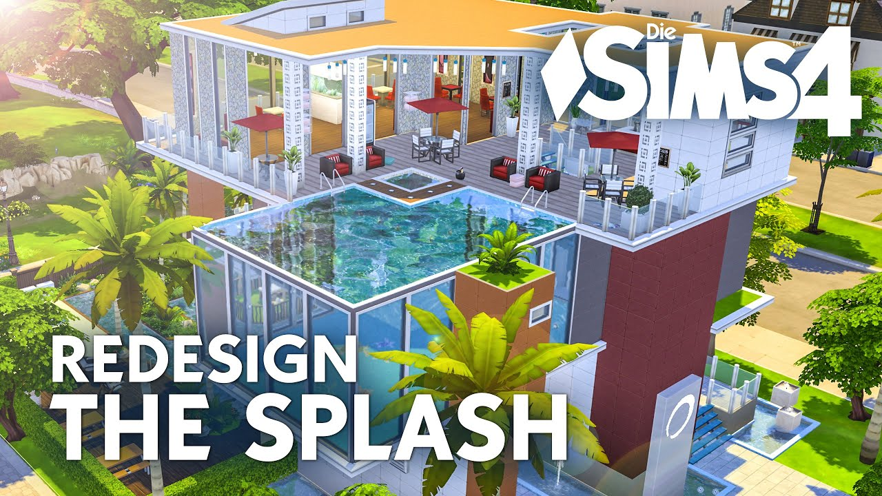 Pool Bauen Sims 4 Die Sims 4 The Splash Redesign Let 39s Build Zum Pool