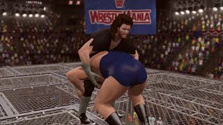 WWE 2K15- The Undertaker vs Andre the giant Hell in A Cell Match 2015 (PS4)