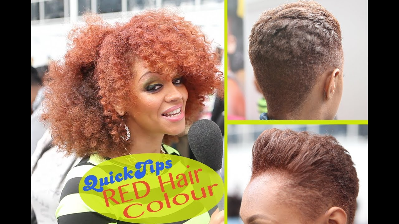Bite Size Tips: Dying Afro/Relaxed Hair Red