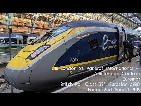 London St. Pancras To Amsterdam Centraal By Train: Journey Aboard Eurostar E320, 300km/h